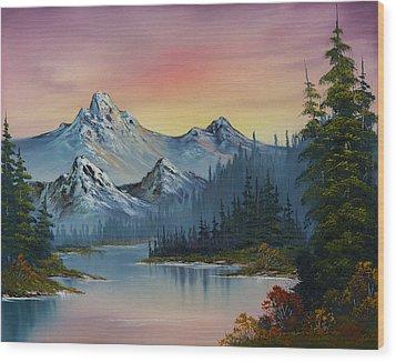 Evening Splendor Wood Print by C Steele