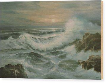 Evening Tide Wood Print by Richard Hinger