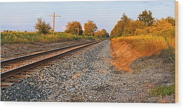 Evening Tracks Wood Print