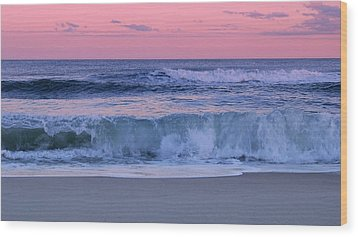 Evening Waves - Jersey Shore Wood Print