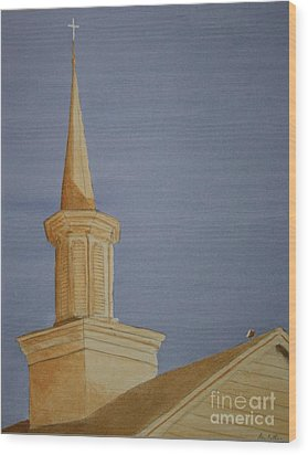 Wood Print featuring the painting Evening Worship by Stacy C Bottoms