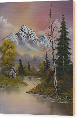 Evening's Delight Wood Print by C Steele