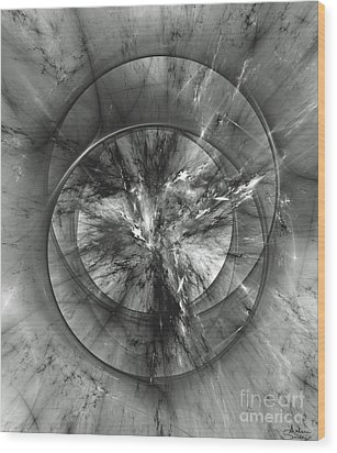 Wood Print featuring the digital art Event Horizon by Arlene Sundby