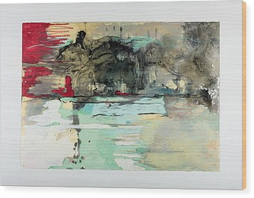 The Storm Behind The Calm Wood Print by Marie Tosto