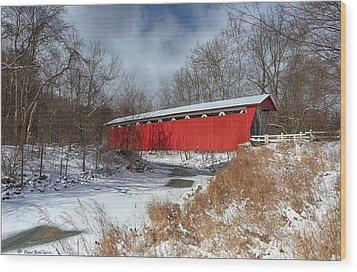 Everett Rd. Covered Bridge Wood Print by Daniel Behm