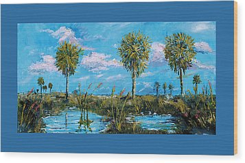 Everglades Sage Palms Wood Print by Steve Ozment