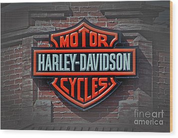 Every Bikers Love Wood Print by Arnie Goldstein