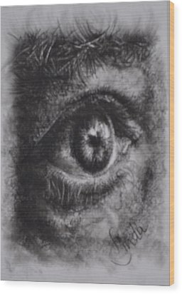 Every Eye Tells Its Own Story Wood Print