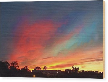 Every Sunset Is A Gift Wood Print by Rick Todaro