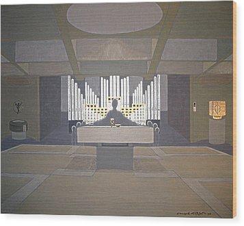 Everybody Leaves His Traces Behind... Wood Print by Ingrid Stiehler