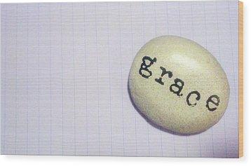 Everyday Grace Wood Print by Beth Burns