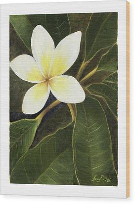 Everywhere In Hawaii Wood Print by Nancy Edwards