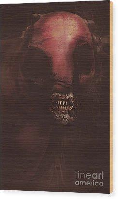 Evil Greek Mythology Minotaur Wood Print by Jorgo Photography - Wall Art Gallery