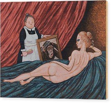 Evolution Of Venus Wood Print