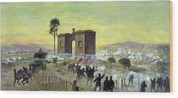Ewells Charge On Cemetery Ridge Wood Print