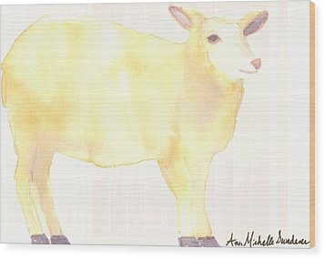 Ewe's Not Fat Ewe's Fluffy Wood Print