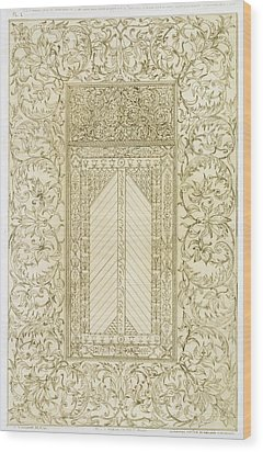 Example Of A Turkish Chimney Wood Print by Jean Francois Albanis de Beaumont