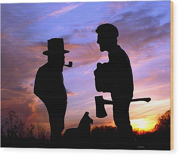 Exchanging Memories Wood Print by Larry Trupp
