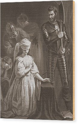 Execution Of Mary Queen Of Scots Wood Print by John Opie