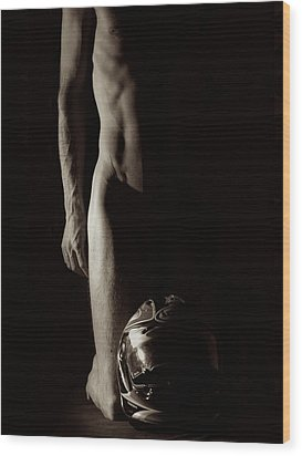Exhale Wood Print by Ian Hemingway