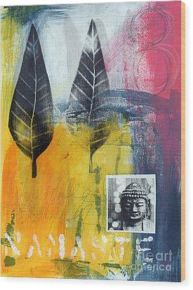 Exhale Wood Print by Linda Woods