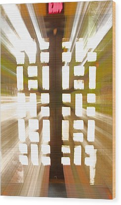 Exit Doors Wood Print by Stuart Litoff