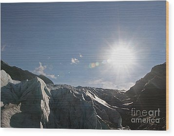 Exit Glacier Wood Print by Russell Christie