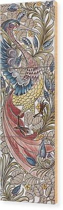 Exotic Bird Wood Print by William Morris