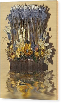 Exotic Bouquet Wood Print by Svetlana Sewell