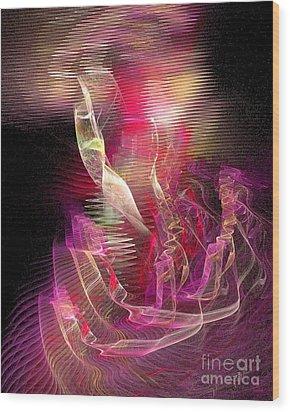 Expanding 2 Wood Print by Jeanne Liander