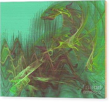 Expanding 4 Wood Print by Jeanne Liander