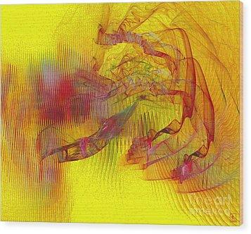 Expanding 9 Wood Print by Jeanne Liander