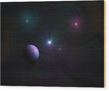 Expanding Universe Wood Print by Ricky Haug