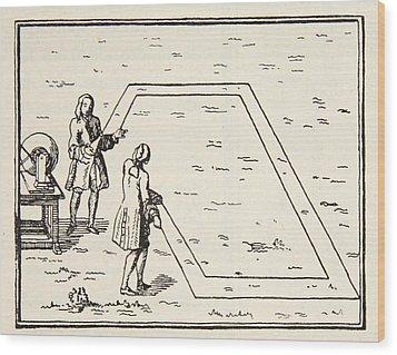 Experience De Le Monnier Sur Lat Wood Print by French School