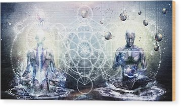 Experience So Lucid Discovery So Clear Wood Print by Cameron Gray