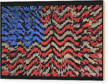 Exploding With Patriotism Wood Print by John Farnan