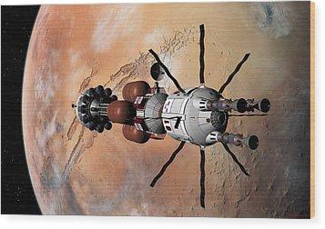 Explorer At Mars Part 1 Wood Print
