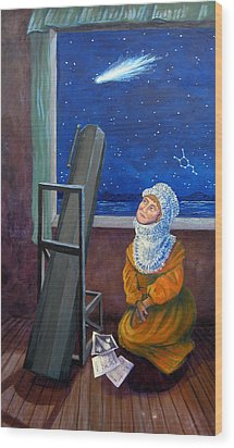 Explorer Of Stars - Caroline Herschel Wood Print