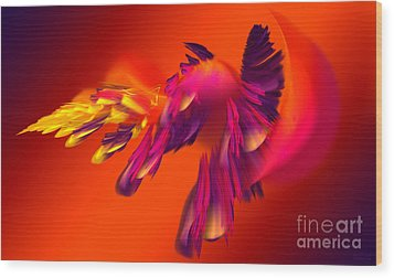 Explosion Of Hot Colors Wood Print by Hanza Turgul