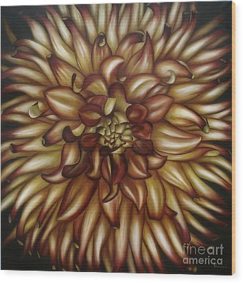 Explosion Wood Print by Paula Ludovino
