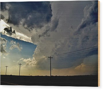 Wood Print featuring the photograph Explosive Texas Supercell by Ed Sweeney