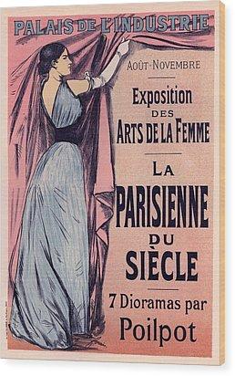 Exposition Des Arts De La Femme Wood Print by Gianfranco Weiss