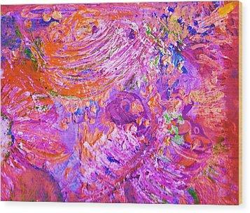 Extravaganza 2 Wood Print by Anne-Elizabeth Whiteway