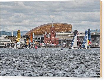 Extreme 40 At Cardiff Bay Wood Print