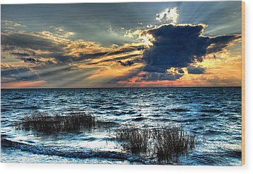 Extreme Sunset - Outer Banks Wood Print by Dan Carmichael