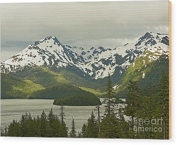 Wood Print featuring the photograph Eyak Lake Landscape by Nick  Boren