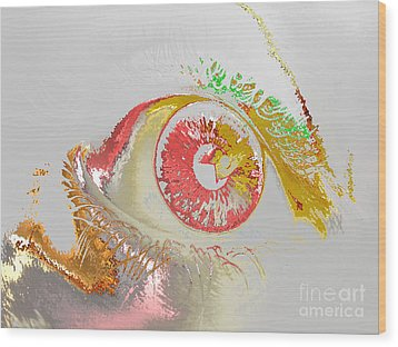 Eye 2 Wood Print by Soumya Bouchachi