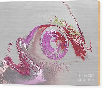 Eye 3 Wood Print by Soumya Bouchachi