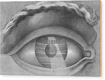Eye Enclosing The Theatre At Besancon France Wood Print by Claude Nicolas Ledoux