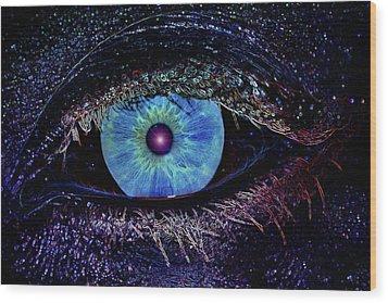 Eye In The Sky Wood Print by Joann Vitali